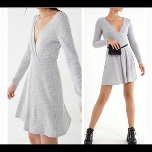 Urban Outfitters V-Neck Wrap Knit Swing Dress